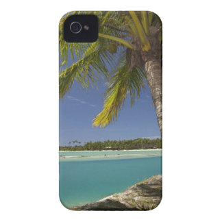 Palm trees & lagoon, Musket Cove Island Resort iPhone 4 Cases