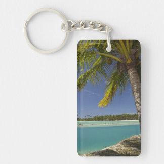 Palm trees & lagoon, Musket Cove Island Resort Keychain