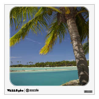 Palm trees & lagoon, Musket Cove Island Resort Wall Sticker