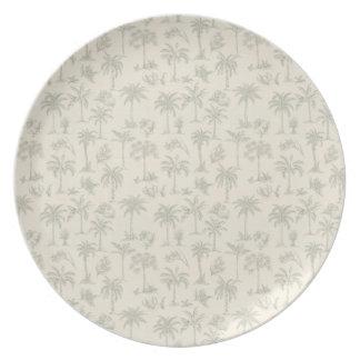 Palm Trees Melamine Plate
