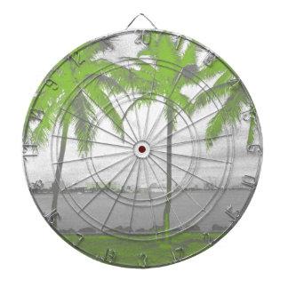 Palm Trees Miami, Florida Green Dartboard