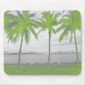 Palm Trees Miami, Florida Green Mouse Pad