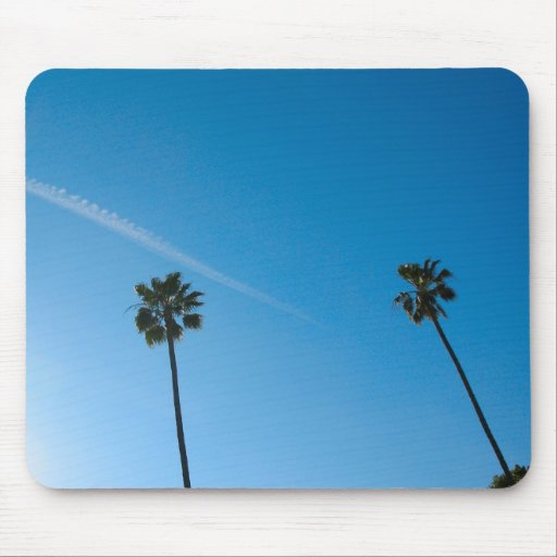 palm trees mouse mat