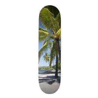 Palm trees, National Historic Park Pu'uhonua o Skateboard Deck