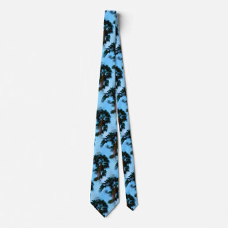 Palm trees necktie