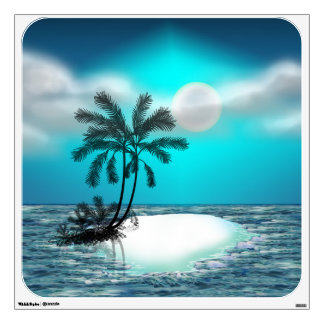 Palm Trees on a Tropical Island Wall Decal