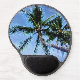 Palm Trees on Beach Blue Sky Artwork Gel Mouse Pad