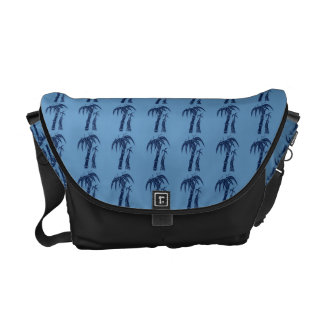 Palm Trees on Blue Courier Bag