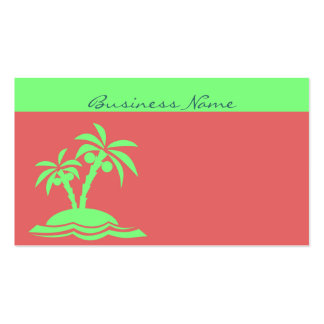 Palm Trees on Island Shore Business Card