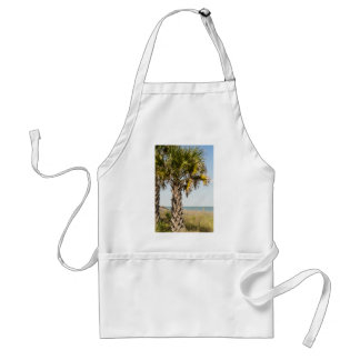 Palm Trees on Myrtle Beach East Coast Boardwalk Adult Apron