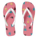 Palm Trees on Pink Flip Flops