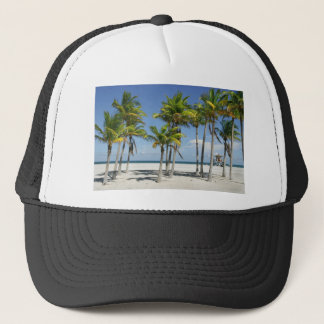 Palm Trees on Sunny Key Biscayne Trucker Hat