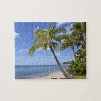 Palm trees on the beach in Hawaii. Jigsaw Puzzle