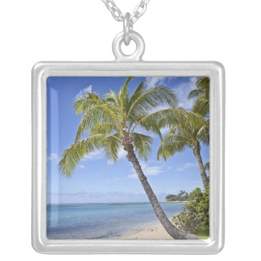 Palm trees on the beach in Hawaii. Pendant