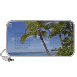 Palm trees on the beach in Hawaii. Portable Speakers