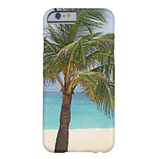 Palm trees on the beach Maldives Barely There iPhone 6 Case