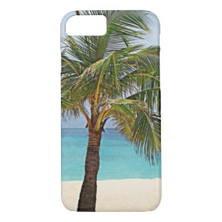 Palm trees on the beach Maldives iPhone 7 Case