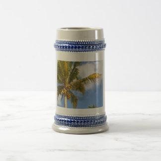 palm trees on the beach coffee mugs