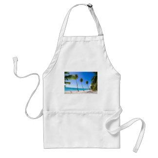 Palm trees on the beach of Isla Saona Adult Apron
