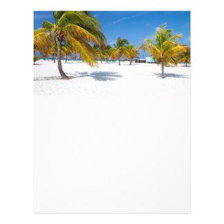 Palm trees on the ocean beach flyer