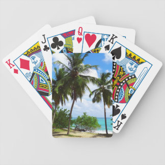 Palm Trees on Tropical SeascapePlaying Cards Bicycle Playing Cards