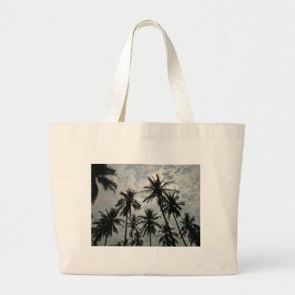 Palm Trees over Mexico Large Tote Bag