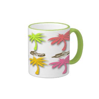 Palm Trees Pattern Coffee Mugs