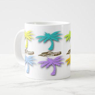 Palm Trees Pattern Specialty Mugs 20 Oz Large Ceramic Coffee Mug