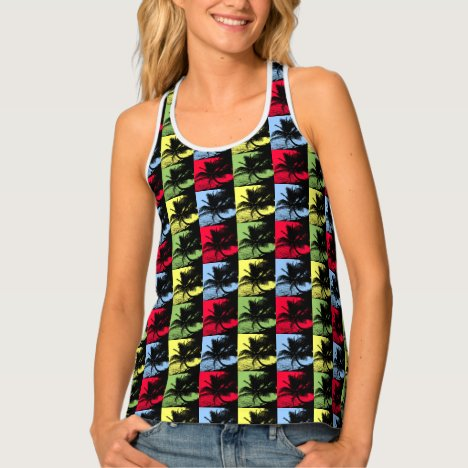 Palm Trees Pattern Tank Top