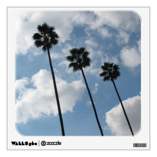 palm trees photograph wall sticker