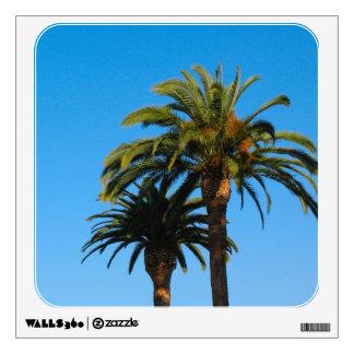 palm trees photograph wall sticker