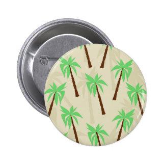 palm trees pinback button