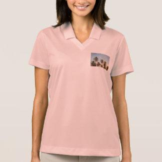 palm trees polo t-shirt