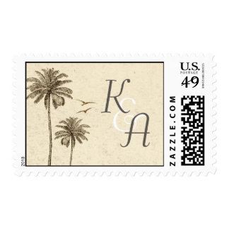 palm trees postage stamps