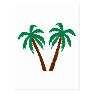 Palm trees postcards