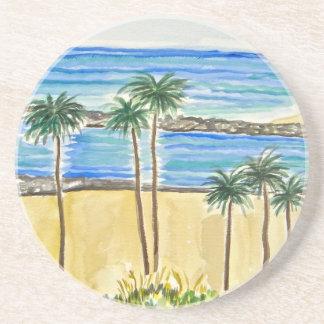 Palm Trees Sandstone Coaster