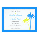 Palm Trees -Save the date card Custom Announcements