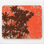 Palm Trees Silhouette Mouse Pad