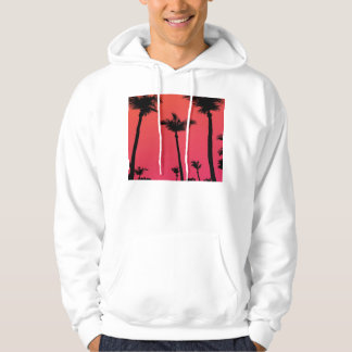 Palm Trees Silhouettes at Sunset Hoodie