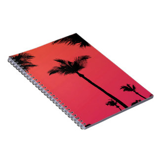 Palm Trees Silhouettes at Sunset Notebook
