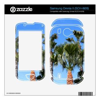 Palm Trees Samsung Omnia II Skin