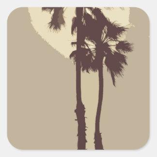 Palm Trees Square Sticker