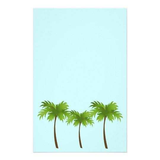 palm trees stationery zazzle com