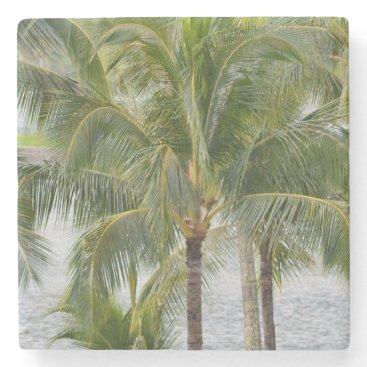 Beach Themed Palm Trees Stone Coaster