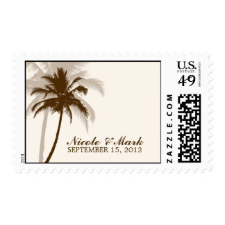 Palm Trees Summer Wedding Stamps