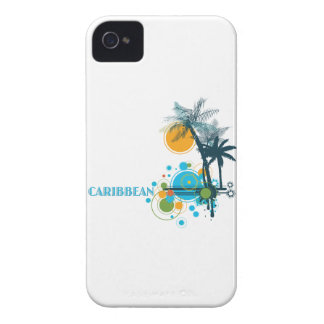 Palm Trees Sun & Circles CARIBBEAN iPhone 4 Cover