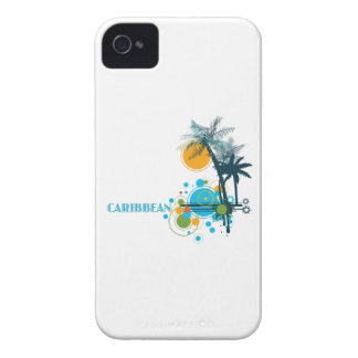 Palm Trees Sun & Circles CARIBBEAN iPhone 4 Case-Mate Cases