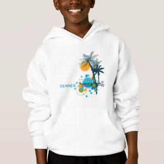 Palm Trees Sun & Circles SUMMER Hoodie