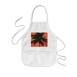 Palm Trees Sunset Silhouettes Kids' Apron