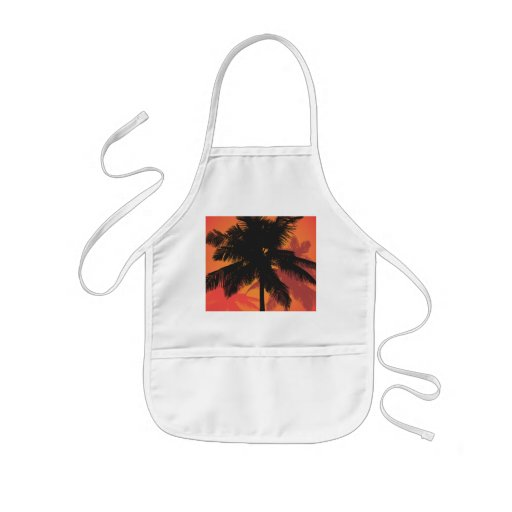 Palm Trees Sunset Silhouettes Apron
